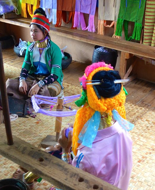 Kayan women Inle Lake Myanmar