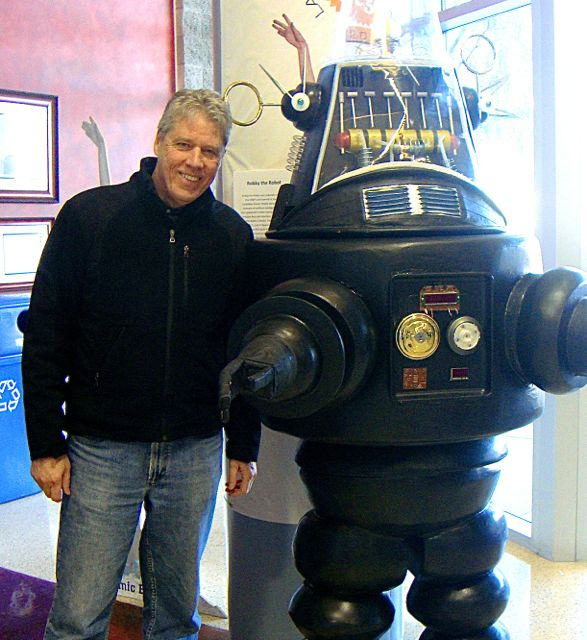 Stephen and Robby the Robot