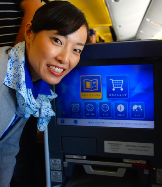 ANA flight attendant - monitor