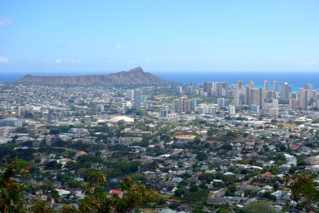 Honolulu Diamond Head cityscape Hawaii