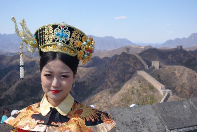 Jinshanling girl in headdress