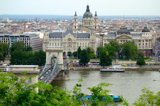 Budapest Hungary Pest from Castle Hill