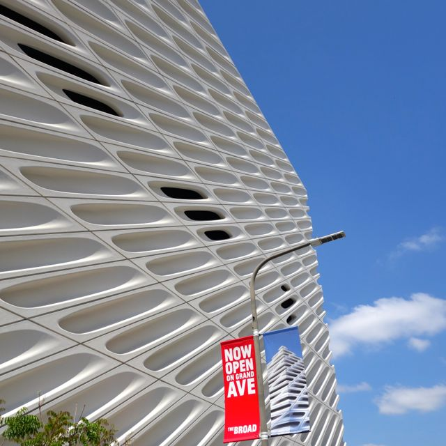 The Broad Art Museum Los Angeles closeup