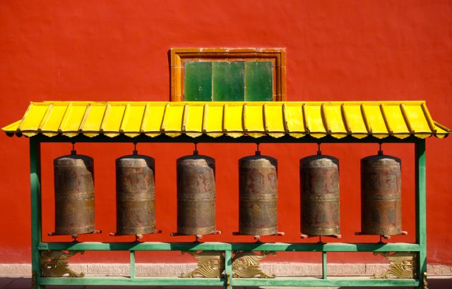 Prayer bells Putuo Zongcheng Temple Chengde China