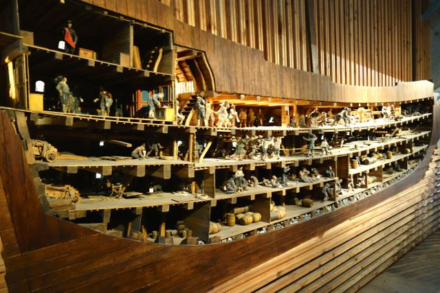 Vasa museum warship model cutout