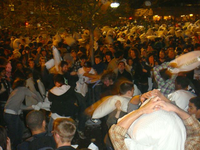 San Francisco pillow fight