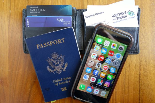 Passport wallet cell phone